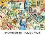 background with money american... | Shutterstock . vector #722197426