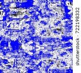 grunge blue seamless pattern.... | Shutterstock . vector #722198332