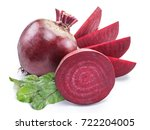 red beet or beetroot with beet... | Shutterstock . vector #722204005