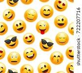 emoji seamless pattern. vector... | Shutterstock .eps vector #722207716
