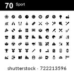 creative icon set   sport | Shutterstock .eps vector #722213596