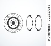brake disk and brake pads | Shutterstock .eps vector #722217358