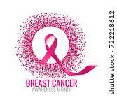 breast cancer awareness month... | Shutterstock .eps vector #722218612