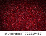 Ripe Cranberries On Background...