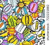 bright comic seamless pattern... | Shutterstock .eps vector #722221882