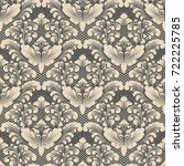 vector damask seamless pattern... | Shutterstock .eps vector #722225785
