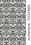 vector damask seamless pattern... | Shutterstock .eps vector #722225842