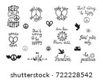 vector set of hand drawn... | Shutterstock .eps vector #722228542