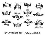 vector set of hand drawn... | Shutterstock .eps vector #722228566