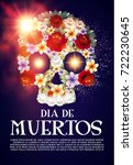 day of the dead poster template ...   Shutterstock .eps vector #722230645
