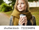 blue eyed blond woman with... | Shutterstock . vector #722234896