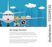 poster air cargo services and... | Shutterstock .eps vector #722239132