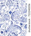 seamless paisley pattern.... | Shutterstock . vector #722240356