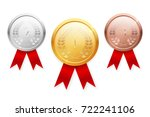 shiny realistic vector gold ... | Shutterstock .eps vector #722241106