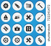 set of 16 editable tool icons....
