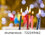 birthday candles | Shutterstock . vector #722245462