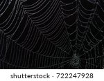 dark  spooky spider web over a... | Shutterstock . vector #722247928