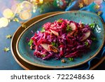 Red Cabbage Salad With Apples...