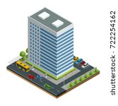 isometric city houses... | Shutterstock .eps vector #722254162