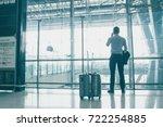 view of businessmen with... | Shutterstock . vector #722254885