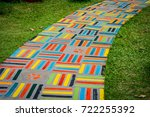 the colorful ceramic walking... | Shutterstock . vector #722255392