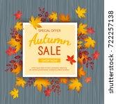 autumn sale banner. special... | Shutterstock .eps vector #722257138
