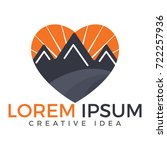 mountains love logo design....