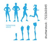 prosthesis for legs vector set... | Shutterstock .eps vector #722263345
