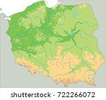 high detailed poland physical... | Shutterstock .eps vector #722266072