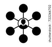 social network icon vector... | Shutterstock .eps vector #722266702