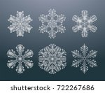 snowflakes collection ...   Shutterstock .eps vector #722267686