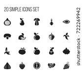 set of 20 editable vegetable...
