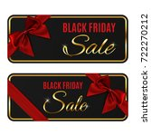 two black friday sale banners... | Shutterstock . vector #722270212