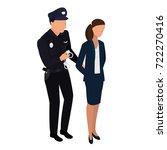 the policeman arrests the... | Shutterstock .eps vector #722270416