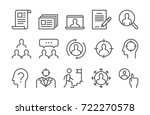 headhunting related vector line ... | Shutterstock .eps vector #722270578