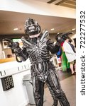 Small photo of Carlisle, UK - August 19, 2017: Cosplayer dressed as an alien from the 'Alien' series at Megacon convention in Carlisle.