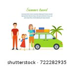 summer travel concept. family...   Shutterstock . vector #722282935