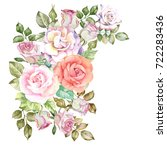 roses composition.watercolor | Shutterstock . vector #722283436
