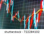live stock trading online.... | Shutterstock . vector #722284102
