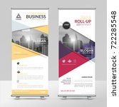 business roll up design...   Shutterstock .eps vector #722285548