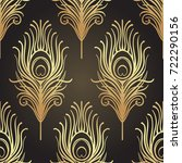 art deco style geometric... | Shutterstock .eps vector #722290156