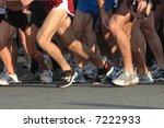 runners' feet at start of race | Shutterstock . vector #7222933