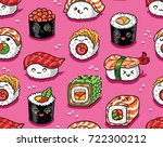 cute seamless pattern with... | Shutterstock .eps vector #722300212