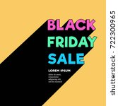 black friday sale. retro style... | Shutterstock .eps vector #722300965