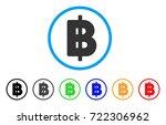 thai baht icon. vector... | Shutterstock .eps vector #722306962