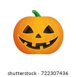 Stock vector a vector halloween pumpkin 722307436