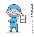 cartoon cardiologist showing... | Shutterstock .eps vector #722316442