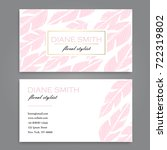 floral style business card...   Shutterstock .eps vector #722319802