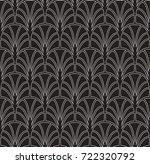 vector floral art nouveau... | Shutterstock .eps vector #722320792