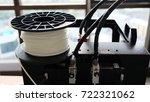 filament white abs plastic of... | Shutterstock . vector #722321062